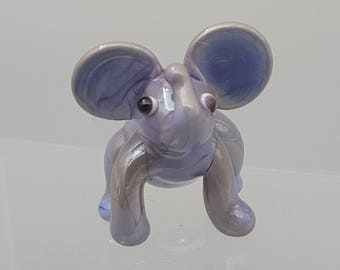 Tina - the tiny elephant, glass animal, cute gift, garden decoration, fairy garden, fun gift