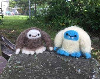 Needle Felted Big Foot or Yeti - Sasquatch or Abominable Snowman