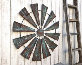 Windmill Wall Decor, Wall Art, Metal Windmill Wall Art, Farmhouse Decor, Farm House Decor, Rustic Home Decor, Rustic Wall Decor Windmill
