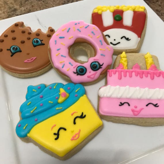 Shopkins Themed Cookies