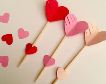 Valentine Cupid arrow cupcake picks