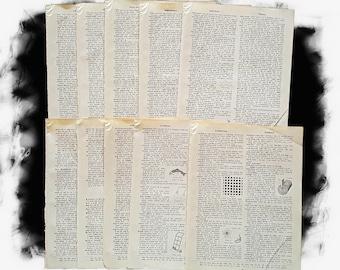 1960s Illustrated Dictionary Pages/Vintage Dictionary/Vintage Paper/Junk Journal/Paper Destash/Art Journal/Collage