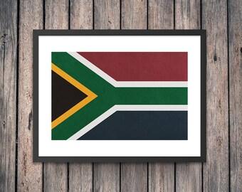 South Africa Flag Art Print