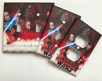 Star Wars light switch plate cover // The Last Jedi // **SAME DAY SHIPPING