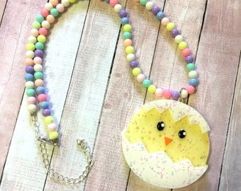 Kawaii Hatched Chick Beaded Necklace (option 2)