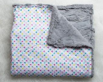 Multi-Color Minky Blanket