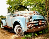 1948 -1953 Blue Dodge B-Series Truck in the Woods Photograph