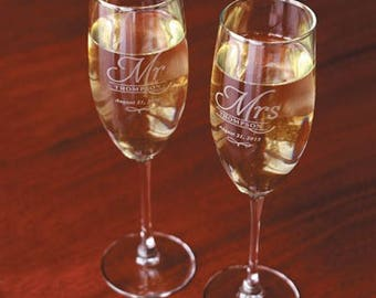 Heartstrings Personalized Champagne Flute with Stem