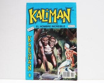 Kaliman El Hombre Increible No 212 El Viaje Fantastico Revista en Español Comic Book in Spanish RARE