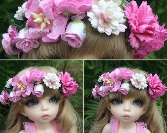 Flowers Crown Size 6/7 Inch. Little Fee - Unoa