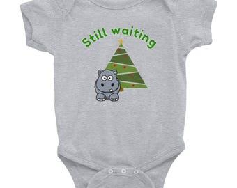 Hippopotomus christmas Infant Bodysuit