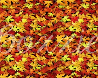 Autumn leaves wrapping paper sheets gift wrap fall color GW5050