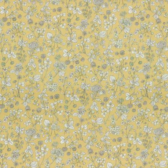 Lecien Memoire A Paris LAWN - Fat Quarter in Yellow