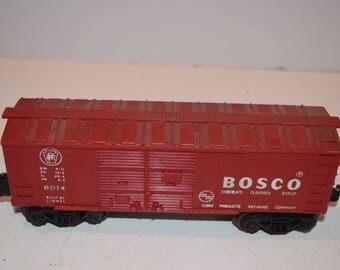 Vintage 1950's No. 6014 Bosco Red Box Car