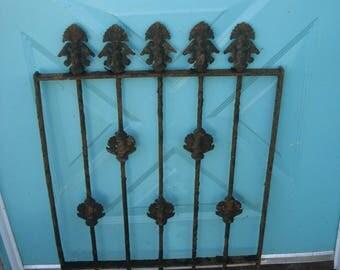 antique ornate iron gate  iron  window guard  garden fence