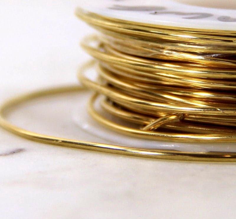 Brass Wire, 16 Gauge, Round Dead Soft, Solid Yellow Brass Wire ...