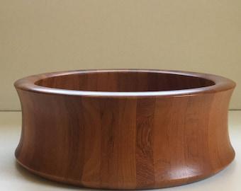Large Digsmed Staved teak bowl