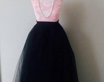 Maxi Tulle skirt, Black Maxi Skirt, Black tulle skirt, Holiday Tulle skirt, Christmas Tulle skirt,Christmas Skirt, Gown, Tutu, Holiday Skirt