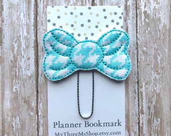 Bow Feltie Bookmark Planner Paperclip, Bow Feltie Clip, Planner Clip, Planner Paper Clip, Bow Felt Bookmark, Bow PaperClip Feltie