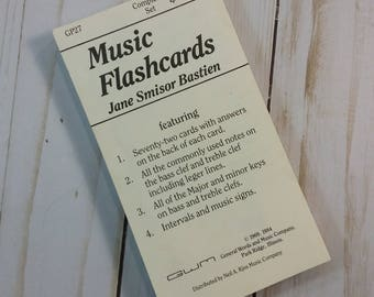 Music Flashcards for mixed-media art, journaling, collage, etc.