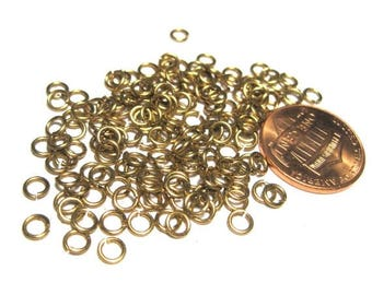 50% OFF Clearance Sale-- Raw Brass Open Jump Rings 4mm 22ga