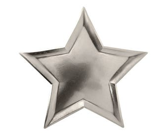 Silver Star Plates, Party Paper Plates, Twinkle Twinkle Little Star, Baby Shower, , Little Star Birthday, Boy Birthday, Holiday Tableware
