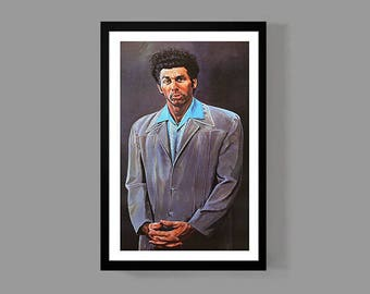 Seinfeld Poster - Cosmo Kramer Print (Portrait Painting) - Funny, TV, Classic, Comedy 90's New York City