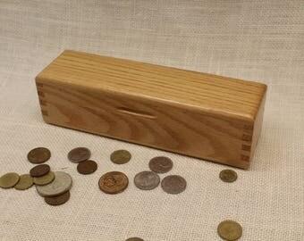 Oak Pencil Box, Pencil Box, Pen and Pencil Box, Wood Pencil Box, Oak Box, Wooden Pen and Pencil Box, ( pb51127A)