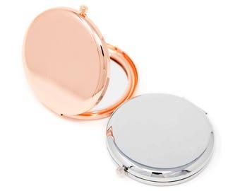 10 x Plain Compact Mirrors