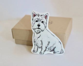 West Highland Terrier Brooch