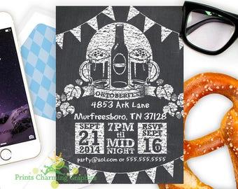 Oktoberfest Invitation • Custom •Print Yourself or Here for a Buck!