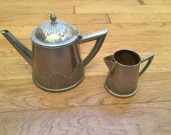 French vintage Deco coffe pot and jug