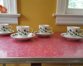 For Rorstrand  Park  Porcelain Cups and Saucers