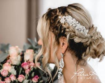 N20 Bridal Veil, wedding hairstyles, Bohos, bridal hairstyles, hair ornaments, comb, bridal headpieces, Fascination, vintage, ivory