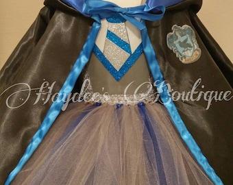 Blue Wizard Cloak Tutu Dress Set