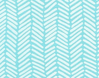 Arroyo - Chevron Aqua - Erin Dollar - Robert Kaufman (AOU-16876-70) - Essex Linen