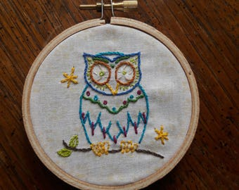"""Full Kit 3"""" Embroidered Owl"""