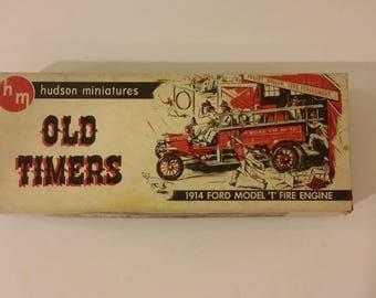 "Vintage Hudson Miniatures Old Timers, 1914 Ford Model ""T"" Fire engine, 1940's"