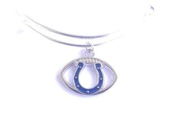 Indianapolis Colts football team charm bangle bracelet