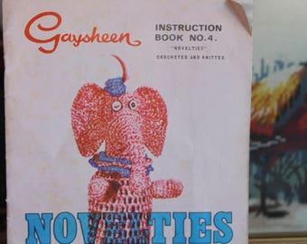 Vintage GAYSHEEN Crochet NOVELTIES Patterns -Book No 4