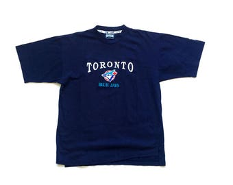 90s Toronto Blue Jays softwear athletics embroidered t shirt size large single stitch vtg tops and tees
