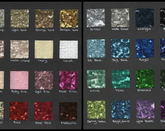 Trio swatch pack / fabric swatches / 3 types fabric samples / sequin, taffeta and chiffon / sequin wedding dress / sequin bridesmaids