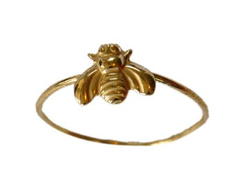 BUMBLE BEE brass charm ring