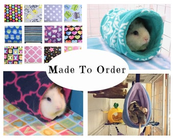 Guinea pig tunnel | guinea pig accessories | rat tunnel | rat hammock | ferret tunnel | hedgehog | chinchilla | bunny | tube | MADE TO ORDER