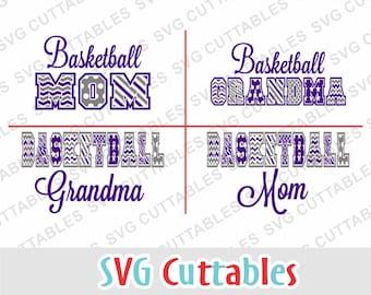 Basketball Mom svg, basketball svg, Basketball Grandma, svg, eps, dxf, Silhouette file, Cricut cut file, digital download