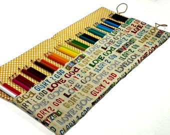 Easter Gift Pencil Case, Holds up to 36 Color Pencils