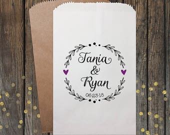 Wedding Candy Buffet Bags, Candy Bar Bags, Wedding Candy Favor Bags, Personalized Wedding Favor Bags, Treat Bags, Favor Bags, Kraft 075