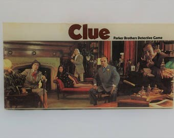Vintage 1972 Clue Classic Detective Board Game By Parker Brothers, Children's Games
