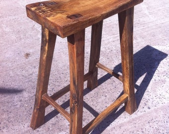 Handcrafted Japanese Inspired Stool Bar/ Kitchen