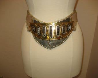 RARE Vintage Cezar Ugarte wide funky belt
